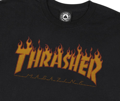 Flame Halftone T Shirt