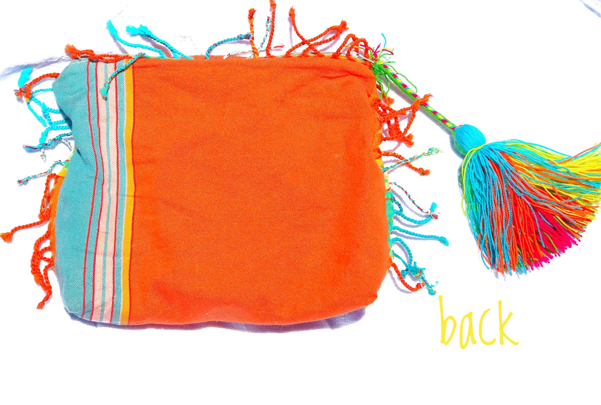 Kikoy tassel Zipper Bag