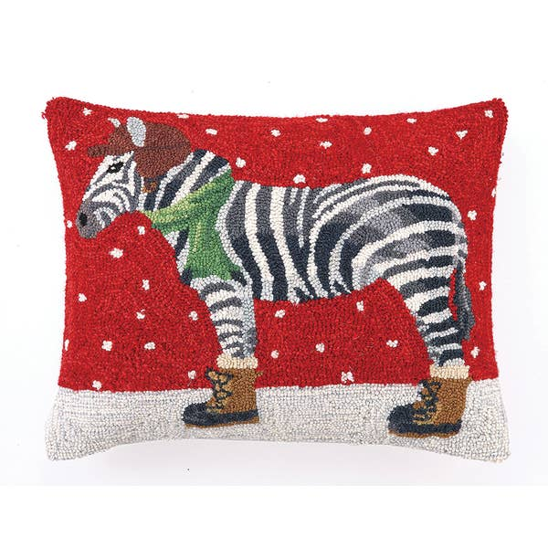 Winter Zebra Hook Pillow