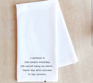Devenie Tea Towel (many funny options)