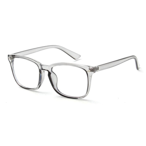 Grey Horn-Rimmed Frame Blue Light Blocker Glasses