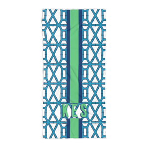 Bamboo Blue Beach Towel