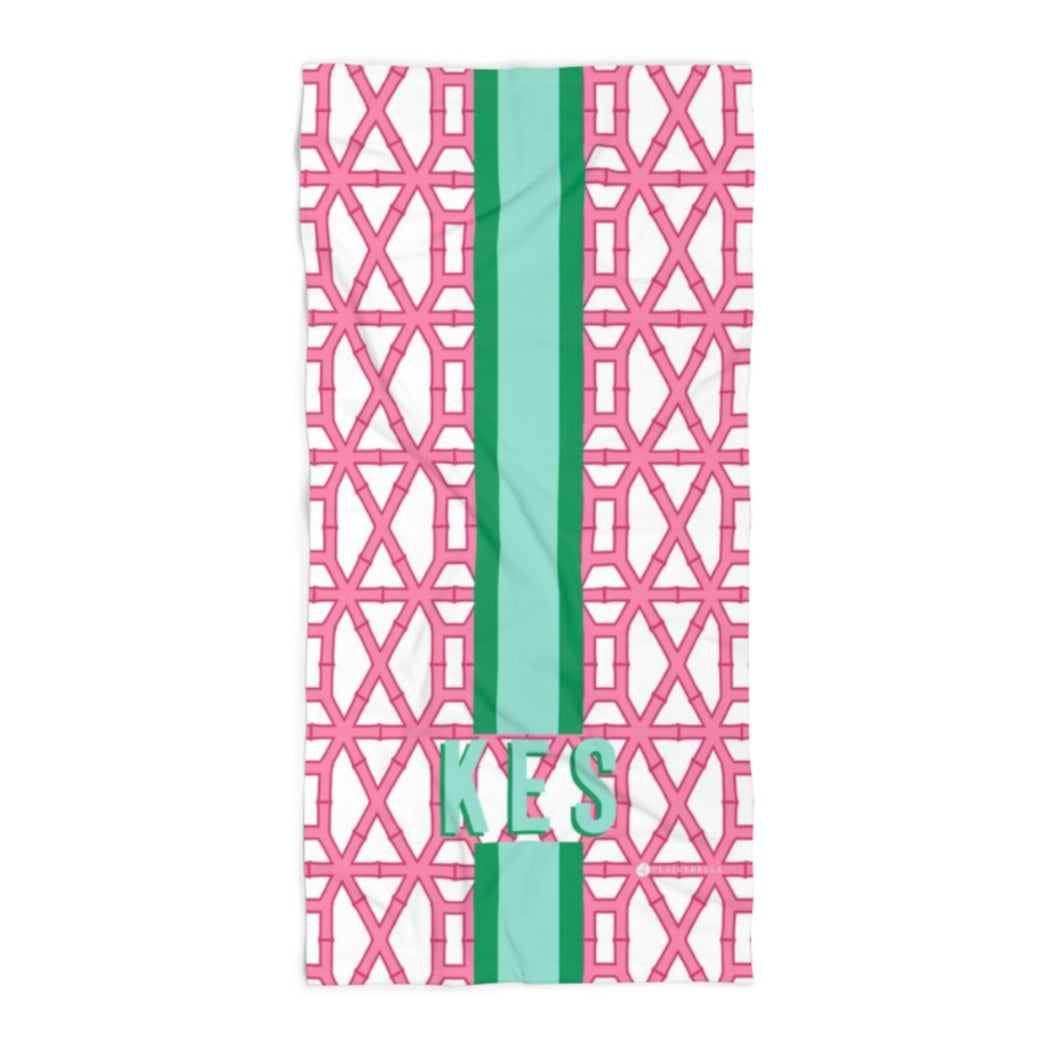 Bamboo Pink Beach Towel