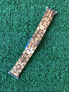 Zebra Wood Apple Watch Band