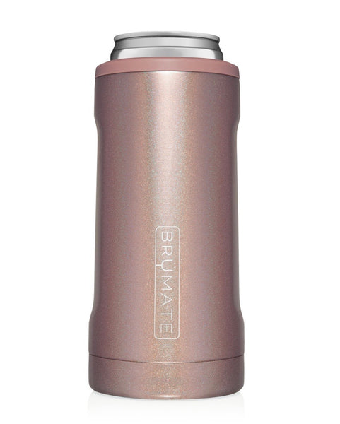 Brumate Hopsulator Slim | Glitter Rose Gold