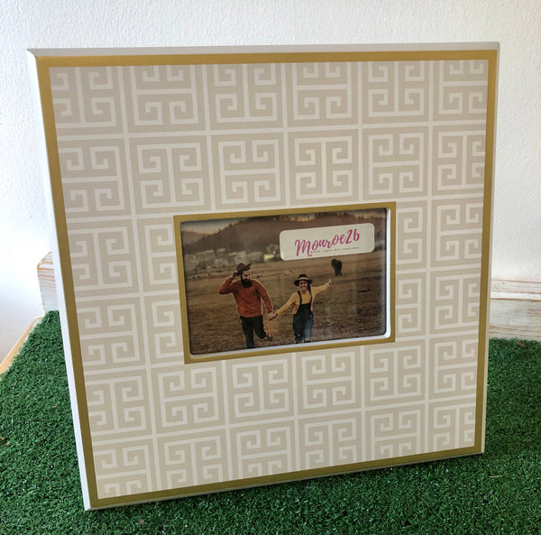 Southern Preppy Frame (tan/white)