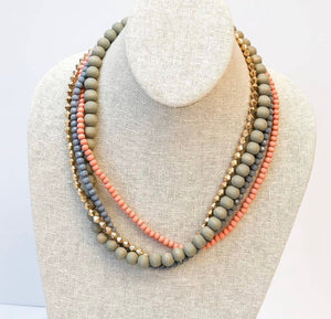 Multi Colored Wooden Necklace