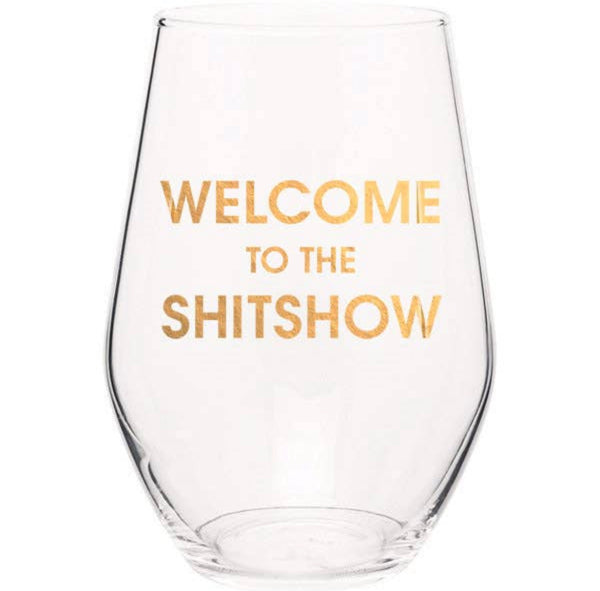 Sh*t Show Wine Glass