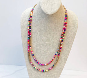 Multi Layered Rainbow Necklace