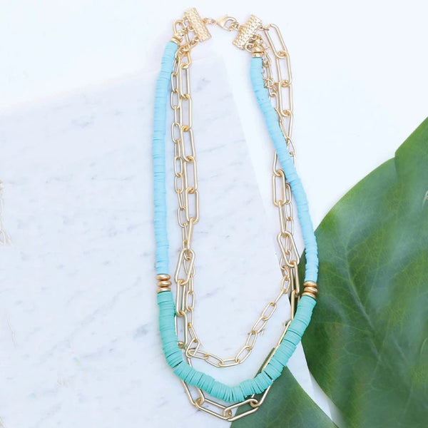 Teal Sunset Necklace