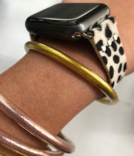 White Leopard Watch Band