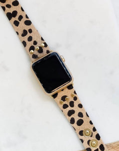 Brown Snow Leopard Watch Band