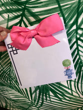 Pink Topiary Bow Notepad