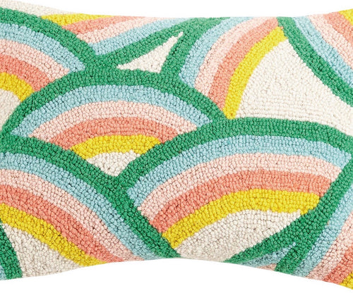 Dancing Rainbows Hook Pillow
