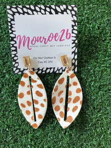 Animal Print Teardrop Earrings (multiple colors)