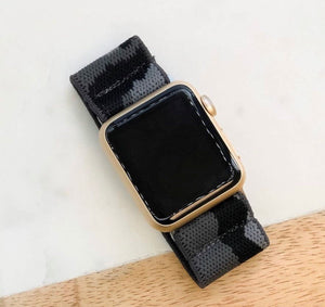 Grey Camouflage Stretch Watch Band