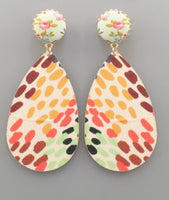 Fabric TearDrop Earrings