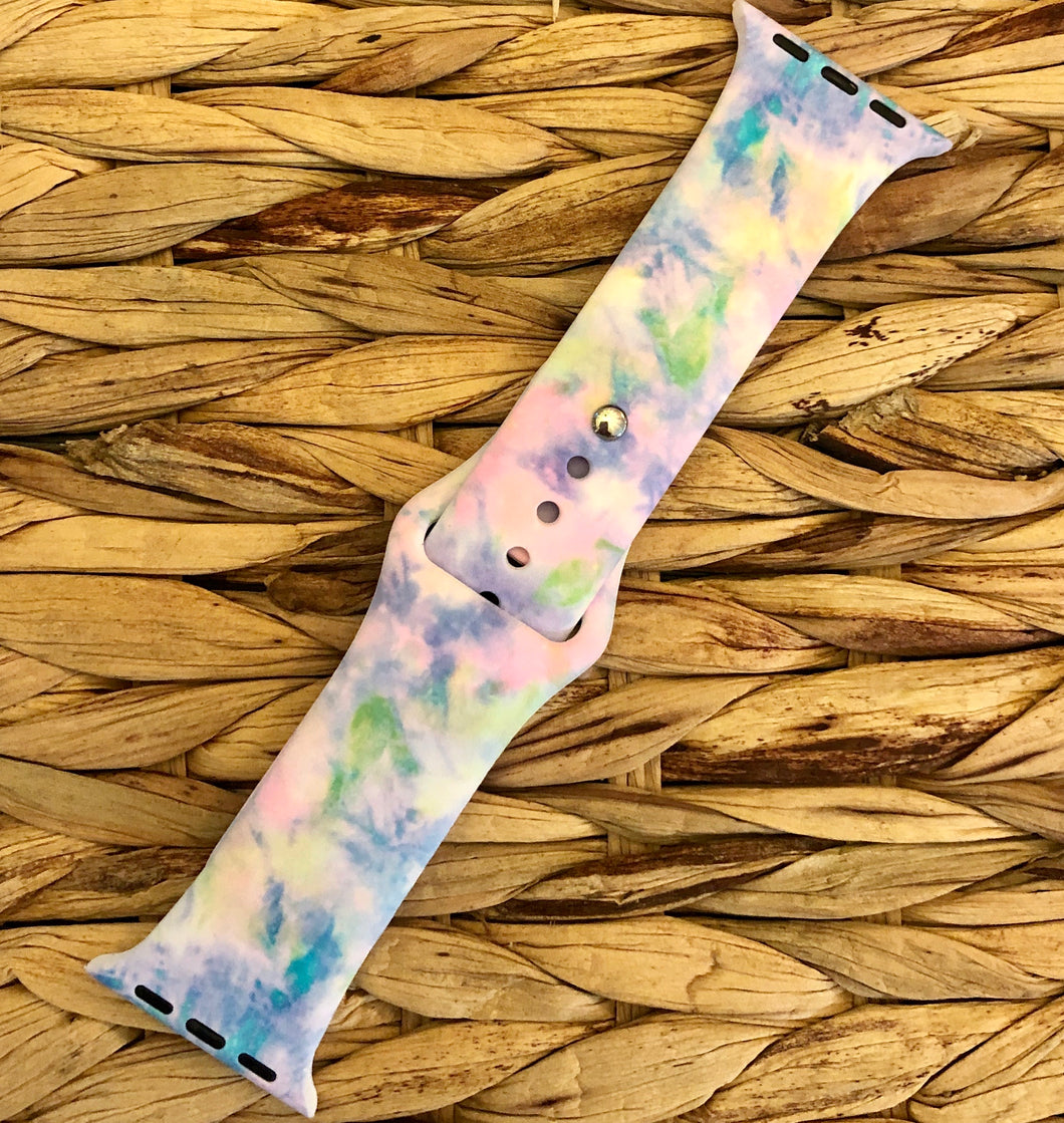 Watercolor Silicone Watch Band
