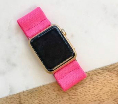 Hot Pink Stretch Watch Band
