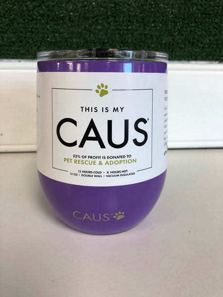 CAUS Wine Tumbler Purple