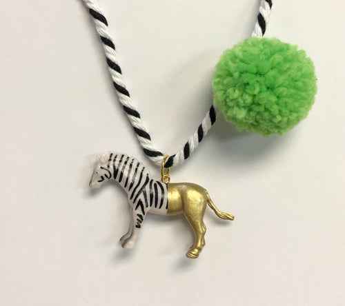 Little's Pom Pom Animal Necklace (Multiple styles)