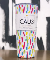 CAUS Paint Splash 24oz Tumbler (LIMITED All She Wrote Notes Edition)