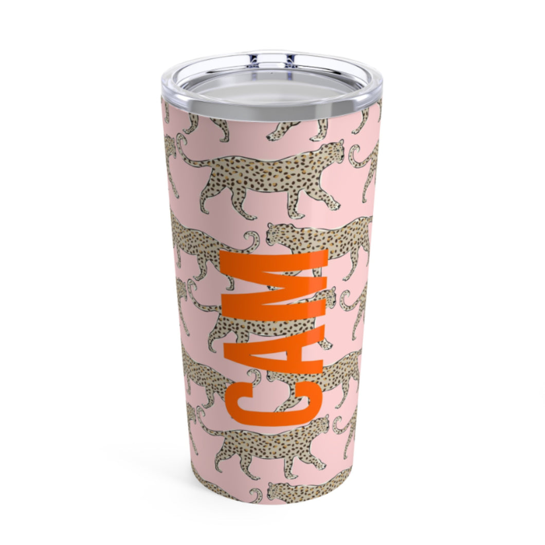 Blush Leopard Large Tumbler