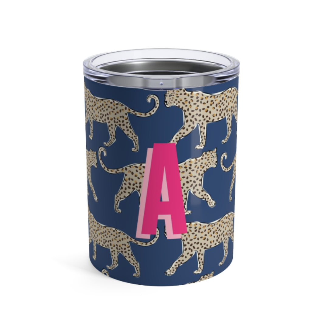 Navy Leopard Small Tumbler