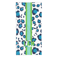 Leopard Spots Blue Beach Towel