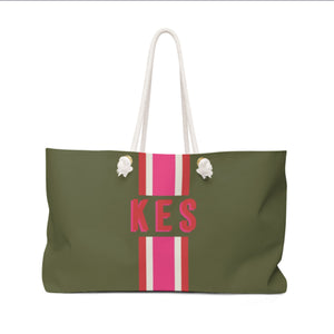 Green & Pink Tote