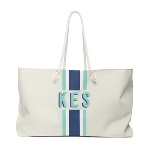 Navy Mint Tote