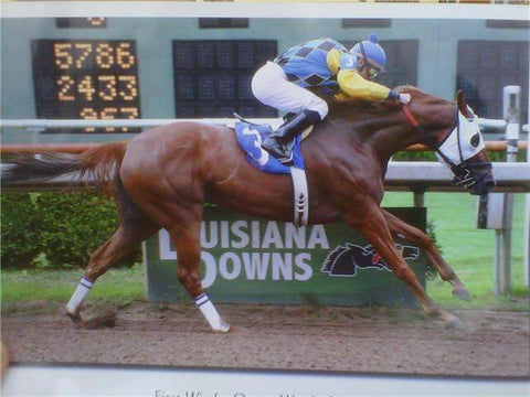 A Body Builder Winner - Baqueros Slewgirl winning at Louisiana Downs