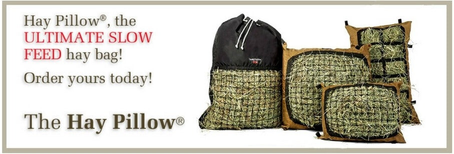 Hay Pillow Slow Feeder Net Bags for Horses