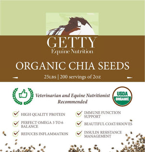 Organic Chia Seeds from Getty Equine Nutrition