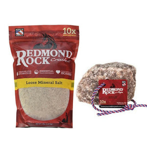 Redmond Rock Natural Sea Salt with Trace Minerals for Horses
