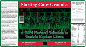 Starting Gate Granules - Product Label