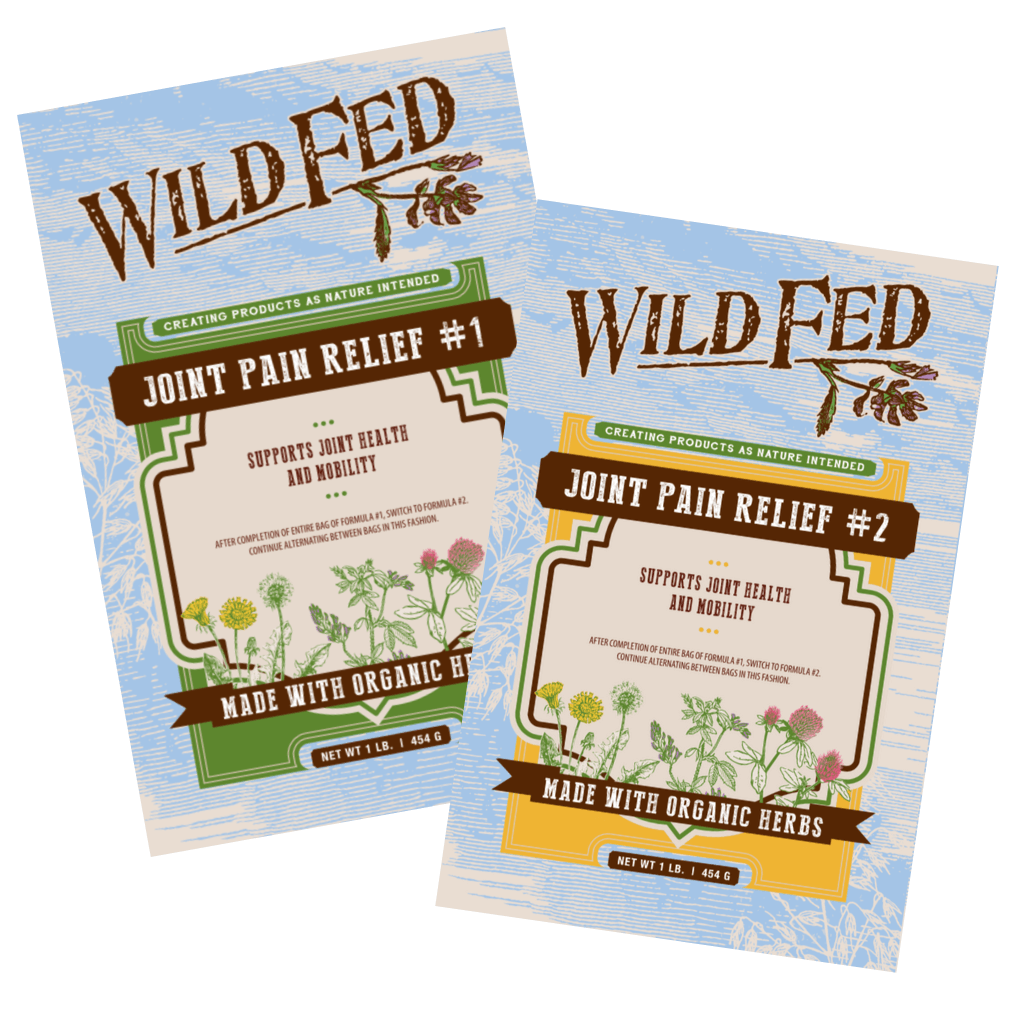 Wild Fed Organic Herbal Joint Pain Relief for Horses - Formula 1 & 2 Pack
