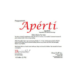 Aperti Peppermint Flavor Label