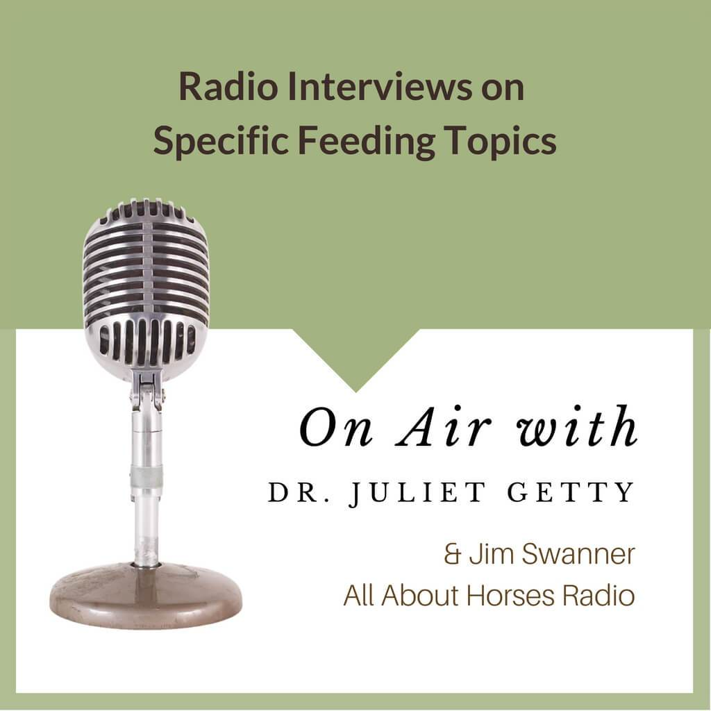 FREE Podcasts - Dr. Getty on All About Horses Radio Show