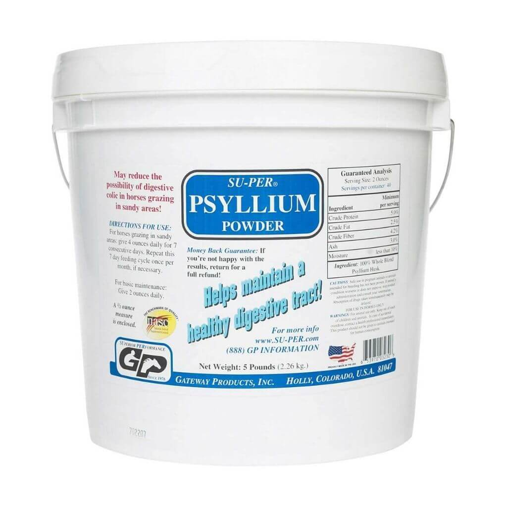 Su-Per Psyllium Powder for Horses - 5lbs