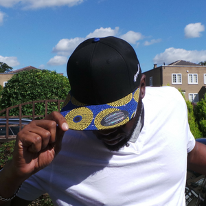"AFP Visor in ""Yellow Blue"" Ankara Cap"