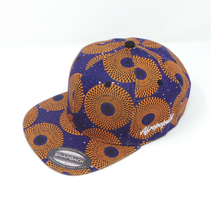"AFP Full in ""Blue Orange"" Ankara Cap"