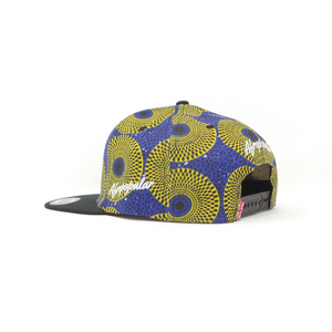 "AFP Half ""Yellow Blue"" Ankara Cap"