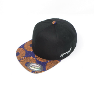 "AFP Visor in ""Blue Orange"" Ankara Cap"
