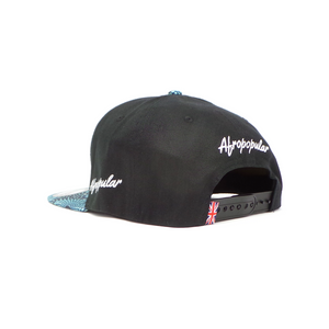 "AFP Visor in ""Blue Black"" Ankara Cap"