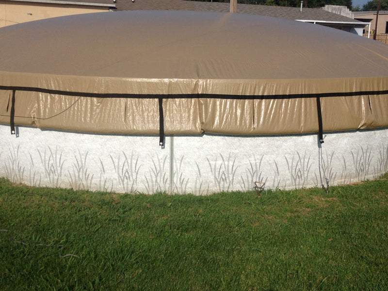 EASYDOME -  ROUND AND OVAL - ABOVE GROUND SOLID WINTER COVERS