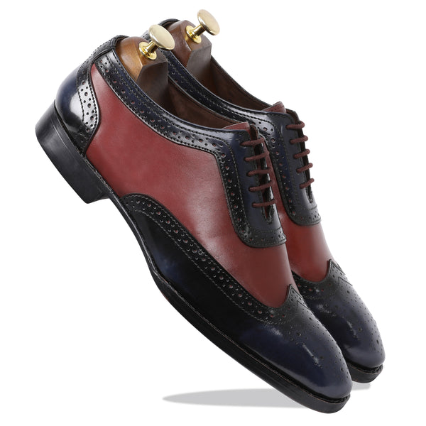 Cherokee Brogues Goodyear – Cherry & Blue