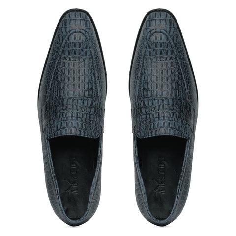 Alligator Penny Loafers