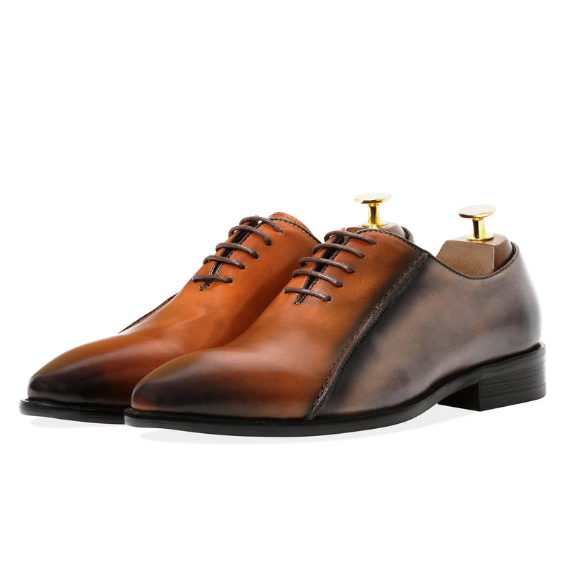 Bishop Oxfords - Brown & Grey