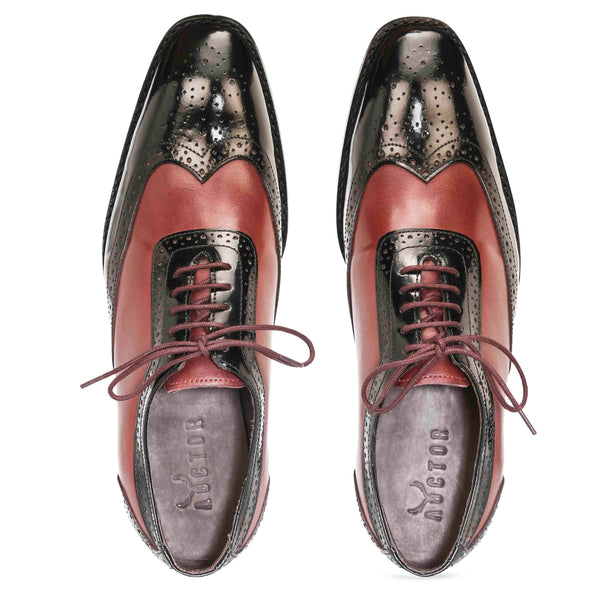 Cherokee Brogues Goodyear – Cherry & Black